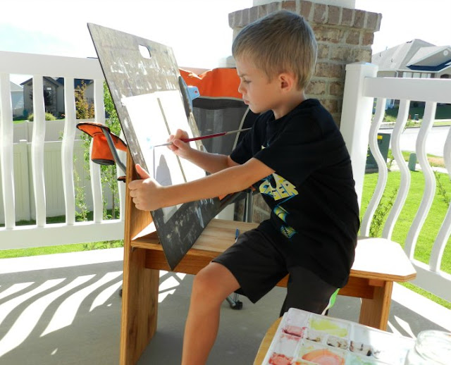 Painting with my son. Finding balance with motherhood and art.  Grow Creative Blog