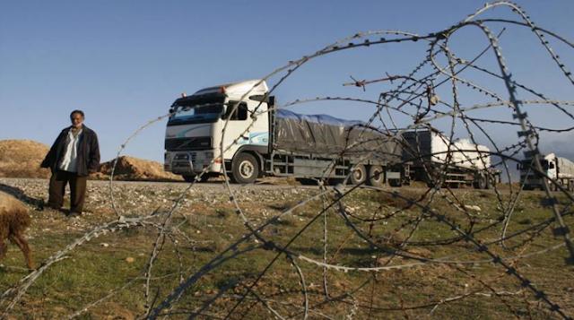 blokir perbatasan israel