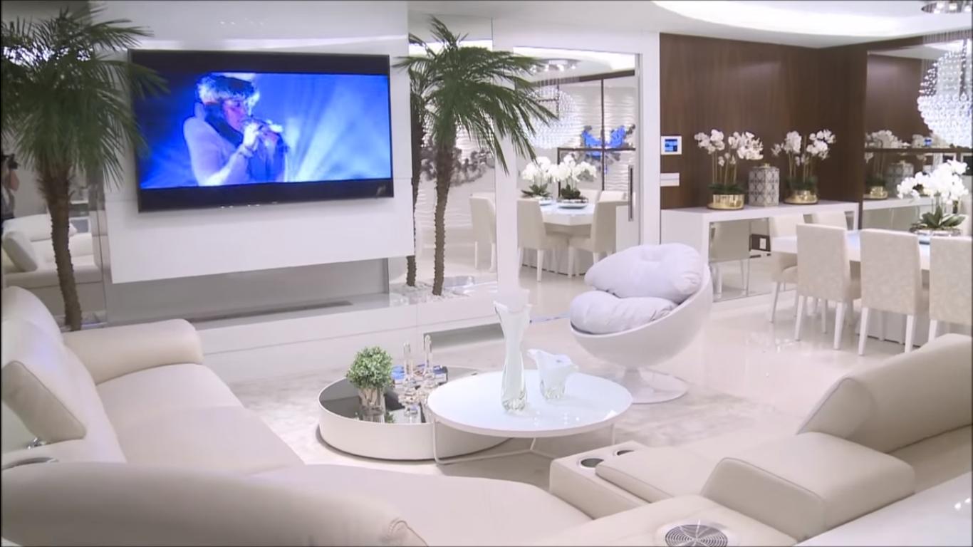 Construindo Minha Casa Clean Apartamento Decorado Luxo Em Sp Com  -> Salas De Luxo Decoradas