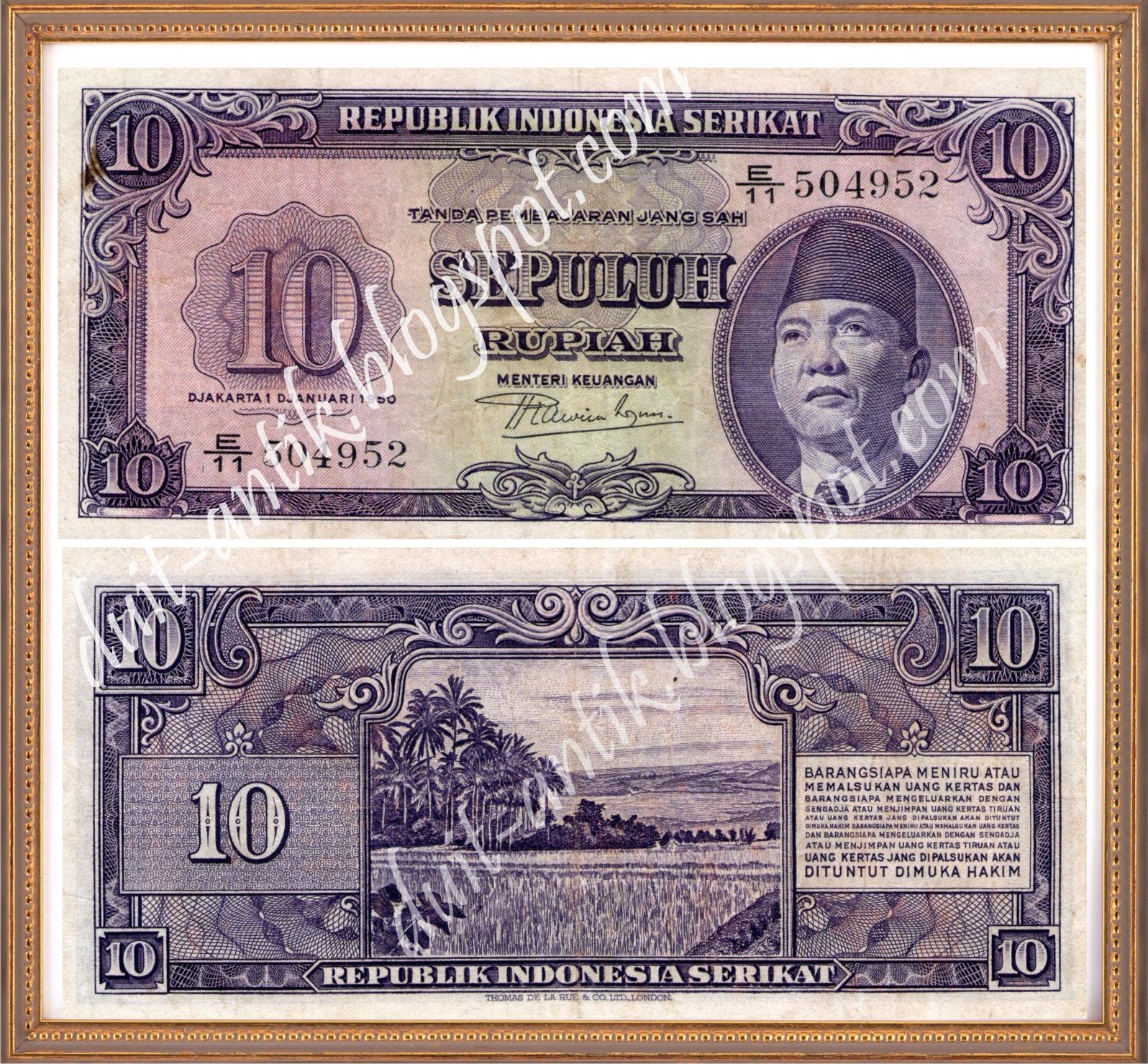 Menjual berbagai macam uang kuno dan barang kuno: Rp.5