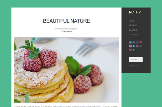 Notify - Blogger Template