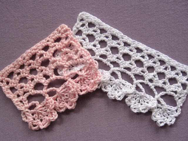 Free Crochet Flower Edging Pattern : Mr. Micawbers Recipe for Happiness: Pear Blossom Edging ...