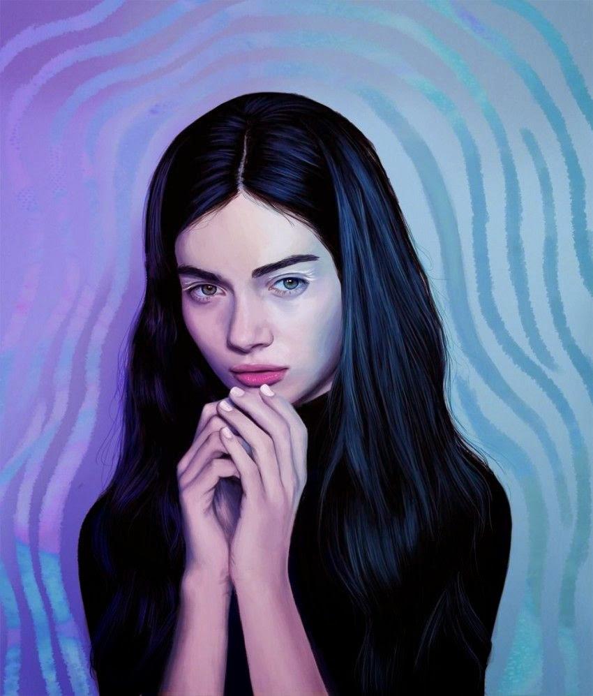 Retrato de mujer bonita brunette