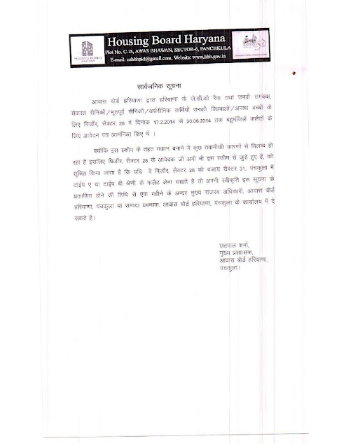 public-notice-haryana-housing-board-reg-consent-of-change-of-sector