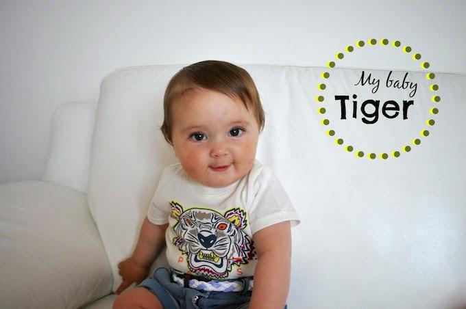 My Baby Tiger: un outfit per bambini con t shirt di kenzo