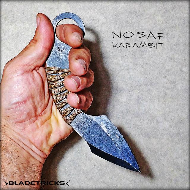 Awesome hand crafted Nosaf karambit, Bladetricks original blades