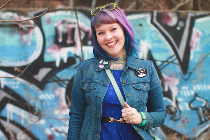 purple hair, fashion blog, cleveland