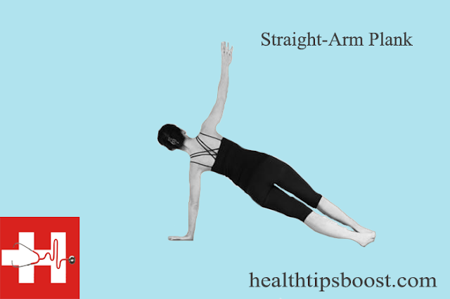 Straight-arm plank exercise is an isometric core strengthening exercise which. involves maintaining one position for a period of time.