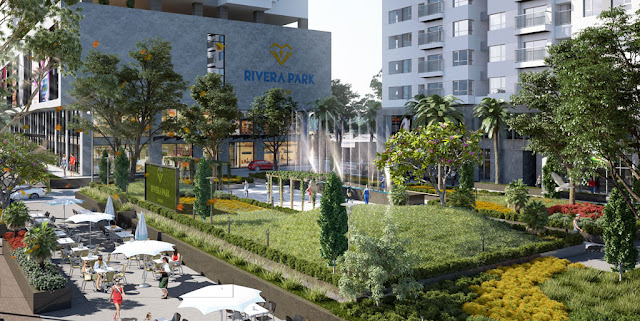 Không gian xanh tại Rivera Park Hà Nội