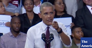 Obama Snaps At Hillary Crowd: 'Everybody Sit Down And Be Quiet'