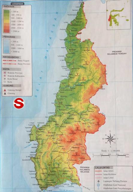 Gambar Peta Atlas Provinsi Sulawesi Barat