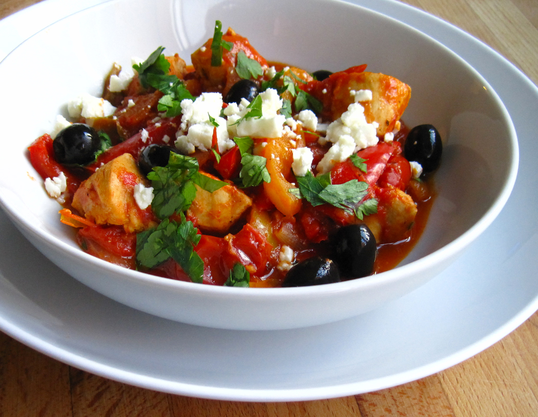 Chicken with Peppers and Feta