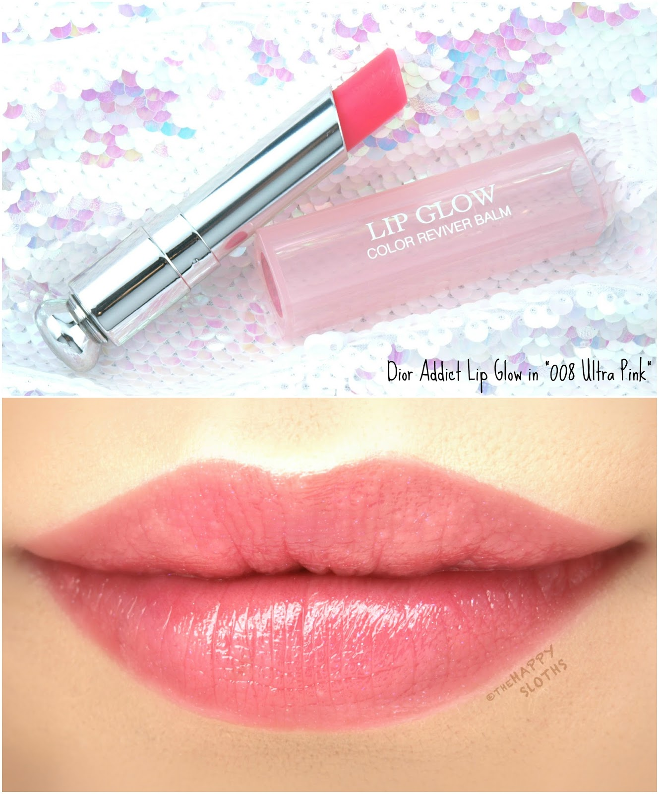 "Dior Addict Lip Glow Color Reviver Balm in ""008 Ultra-Pink"": Review and Swatches"