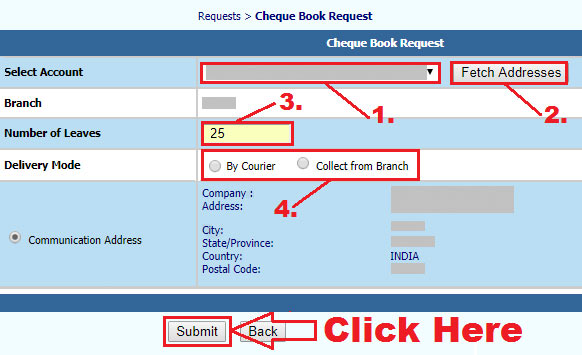 how to get cheque book from uco bank