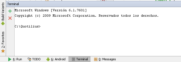 Terminal en Android Studio