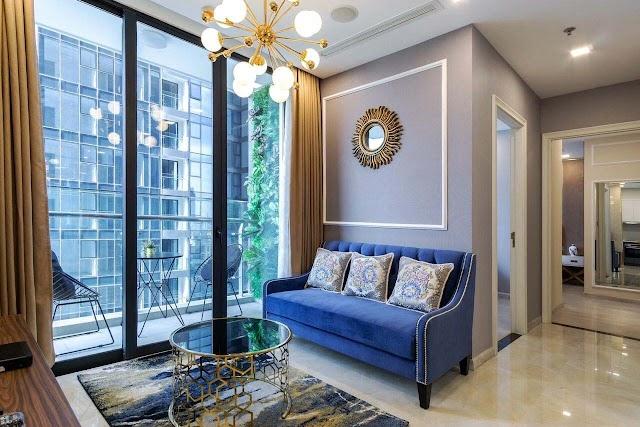 Vinhomes Golden River Aqua 1 cho thuê căn hộ 74m² tầng thấp $1200