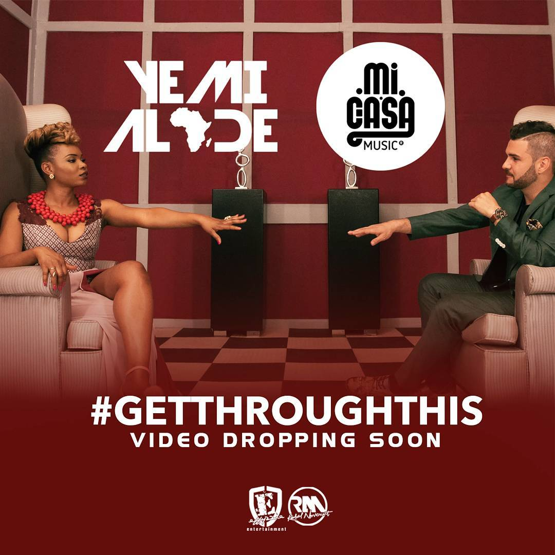 "Yemi Alade And Mi Casa To Release Music Video Of Their Latest Collaboration ""Get Through This""."