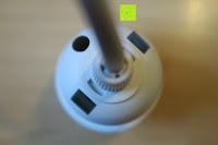 Löcher von oben: kwmobile E27 Lampenfassung 3,5m Weiß - Netzkabel mit Schraubring Schalter - Lampenhalter und Kabel - Pendelleuchte - Lampenaufhängung - Hängeleuchte
