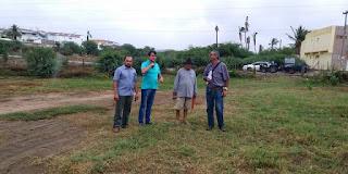 Prefeito Olivânio acompanha geólogo do DNOCS na marcação de poços artesianos nas zonas urbana e rural de Picuí