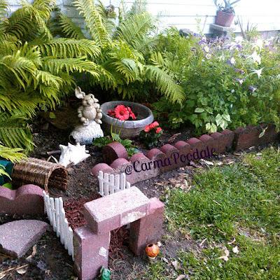 Photo of a flower garden we call piggie paradise.