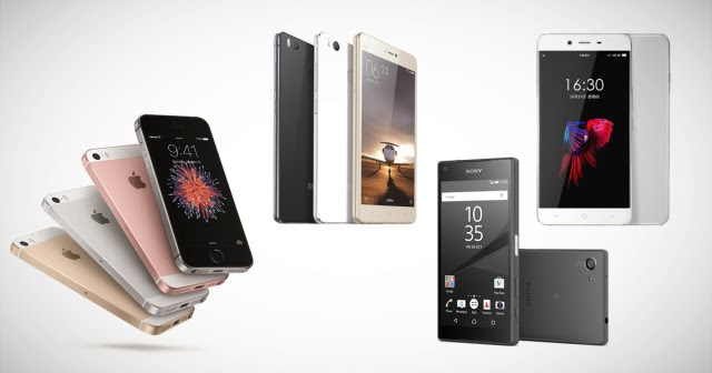 iphone se vs xperia x compact