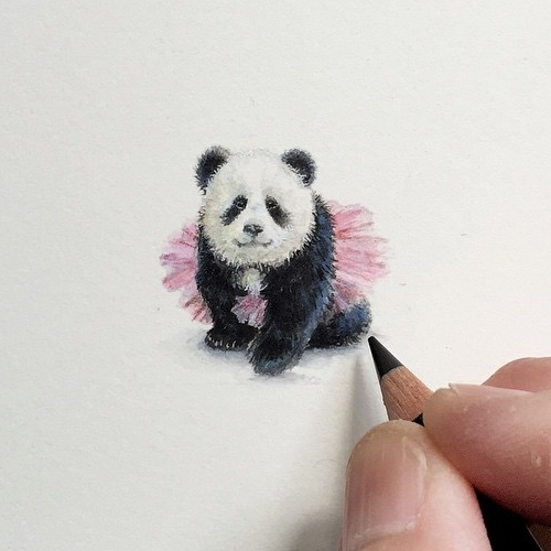 11-Panda-in-Pink-Tutu-Karen-Libecap-Star-Wars-&-other-Miniature-Paintings-and-drawings-www-designstack-co