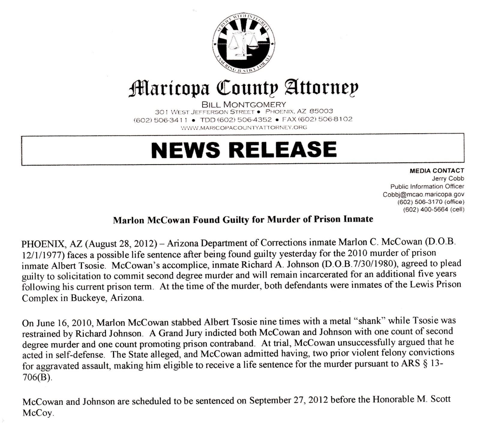 Maricopa County Jail Phone Calls