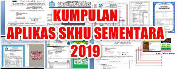 Aplikasi SKHU 2019 Sementara SD SMP SMA