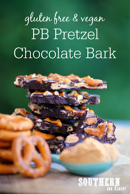 Healthy Peanut Butter Pretzel Chocolate Bark Recipe - raw, vegan, healthy, sugar free, gluten free, clean eating, healthy chocolate recipes, healthy valentines day recipes, dairy free
