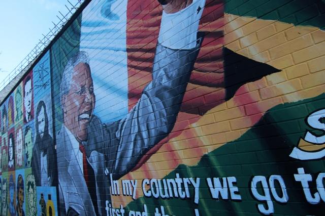 Nelson Mandela en los Murales de Belfast