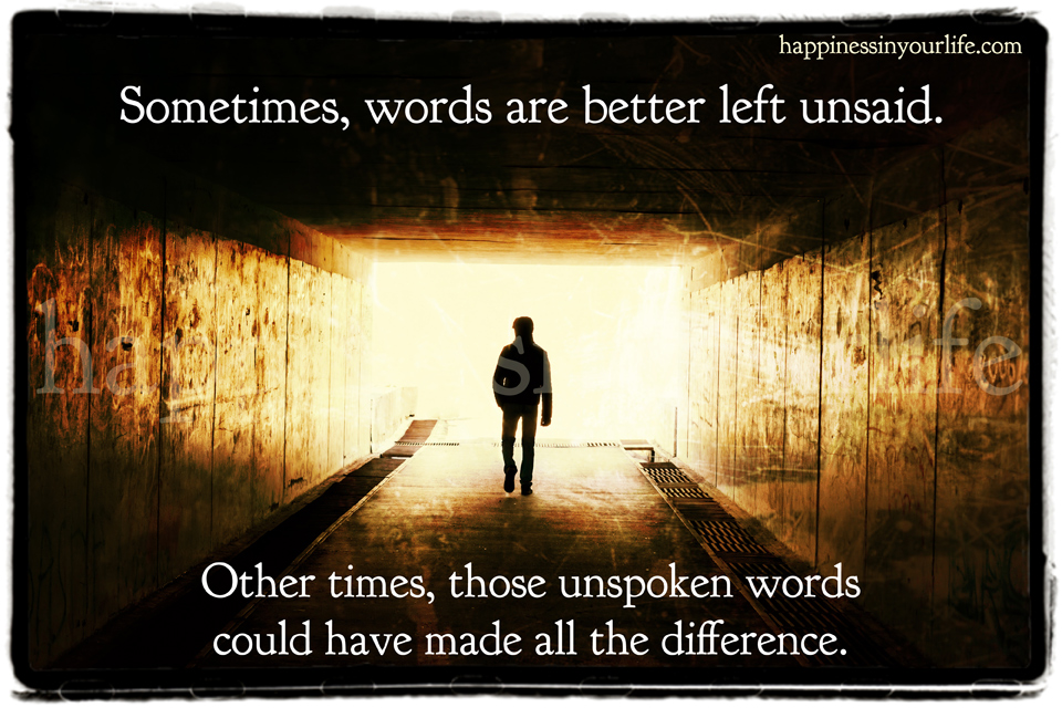 Unspoken Words Quotes