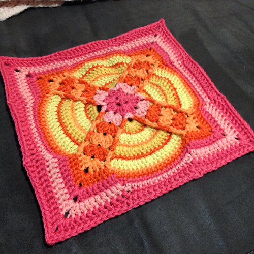 Denna Square Afghan free Crochet Pattern