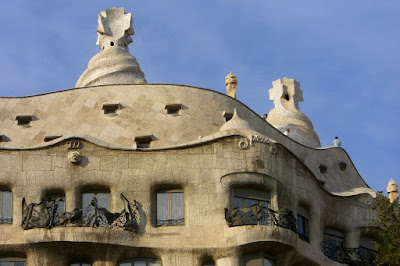 Chimneys of Casa Milà in Barcelona