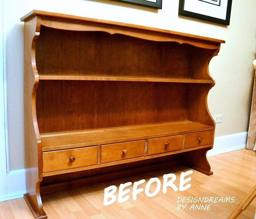 Designdreams By Anne How To Make A Wall Shelf Out Of A Hutch