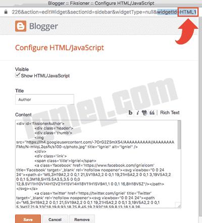 Menampilkan Widget di Halaman Tertentu Saja Pada Blogspot