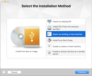 Creating a new VM in VMWare Fusion