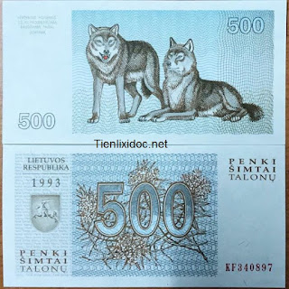 Tiền con chó lithuania