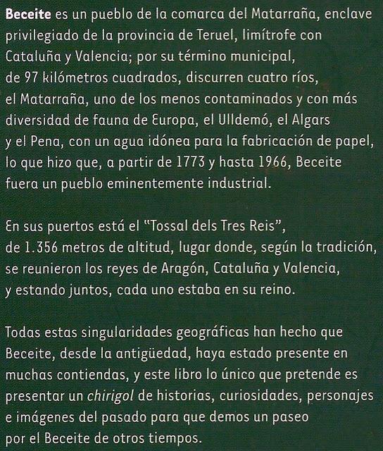 Beceite, tozal, tossal, tres reis, tres reyes, Luis Latorre Albesa