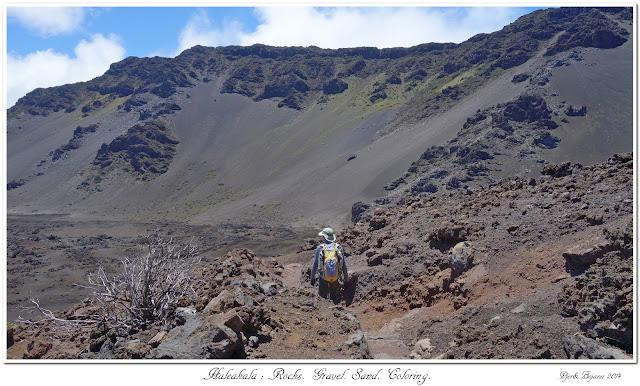 Haleakala: Rocks. Gravel. Sand. Coloring.