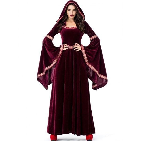 Halloween Velvet Maxi Dress