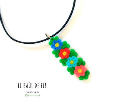 colgante, hamabeads, mini, día de la madre, manualidades fáciles, handmade, diy