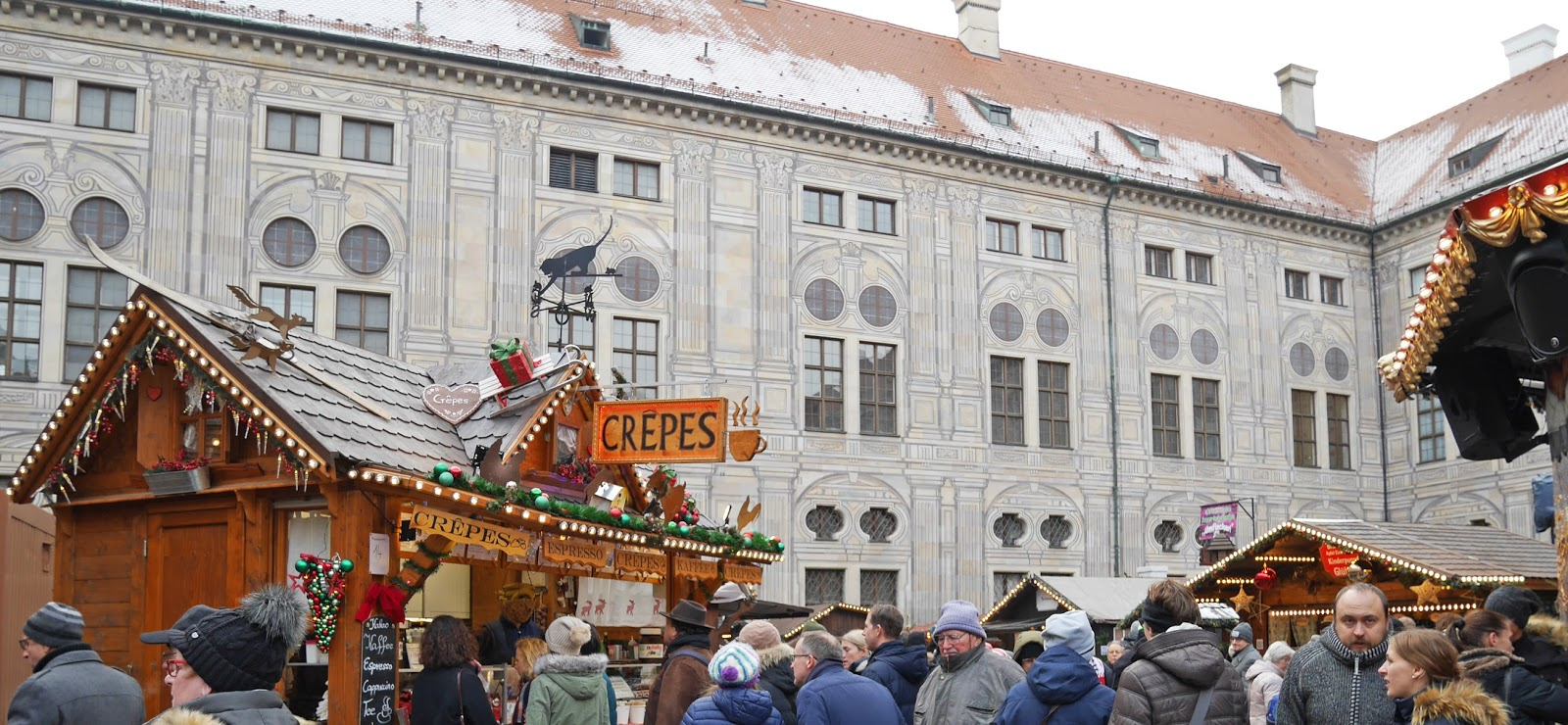 Food stalls at the Munich Christmas Markets
