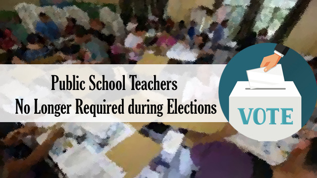 Public School Teachers No Longer Required during Elections