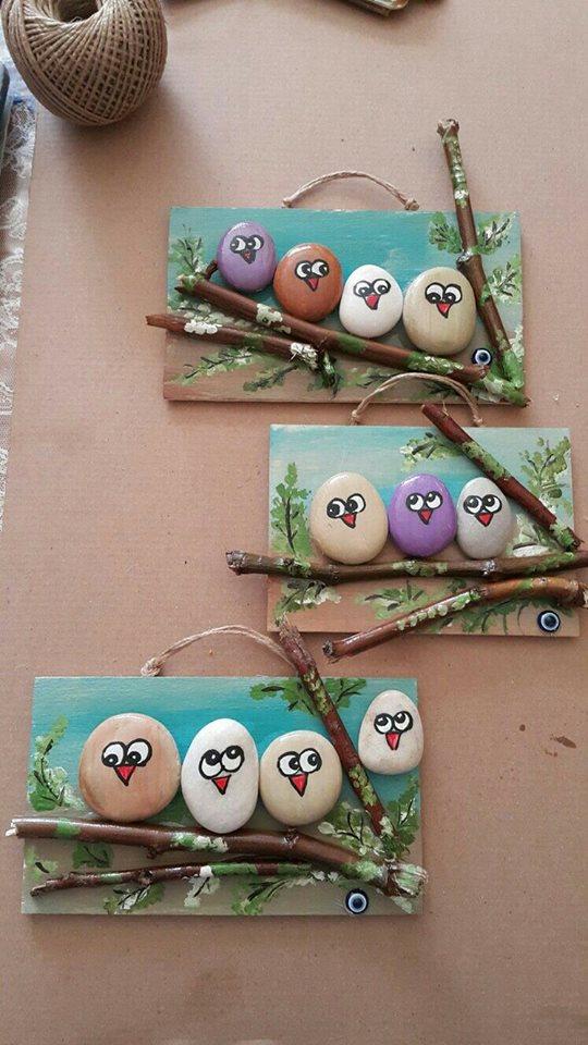manualidades con piedras pintadas construccion y On manualidades con piedras