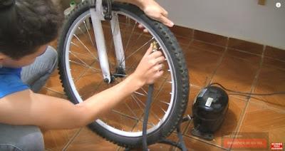 calibração de pneu bicicleta