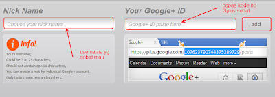 ganti username google plus