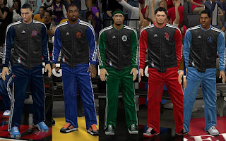 NBA 2K13 Christmas Warmup Uniforms