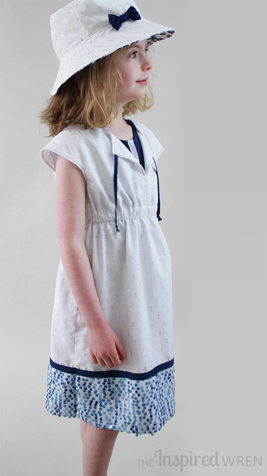 Love this Oliver + S Roller Skate Dress & Bucket Hat as Swim Cover | The Inspired Wren