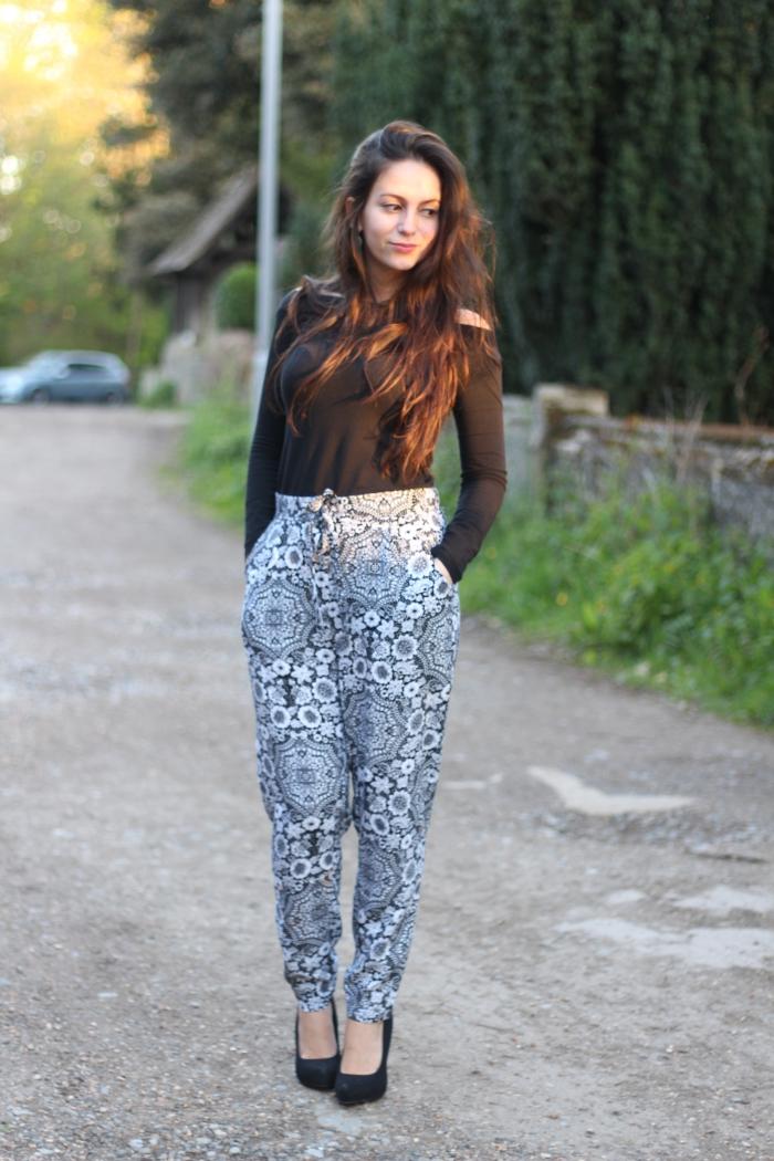 Primark Harem Pants monochrome
