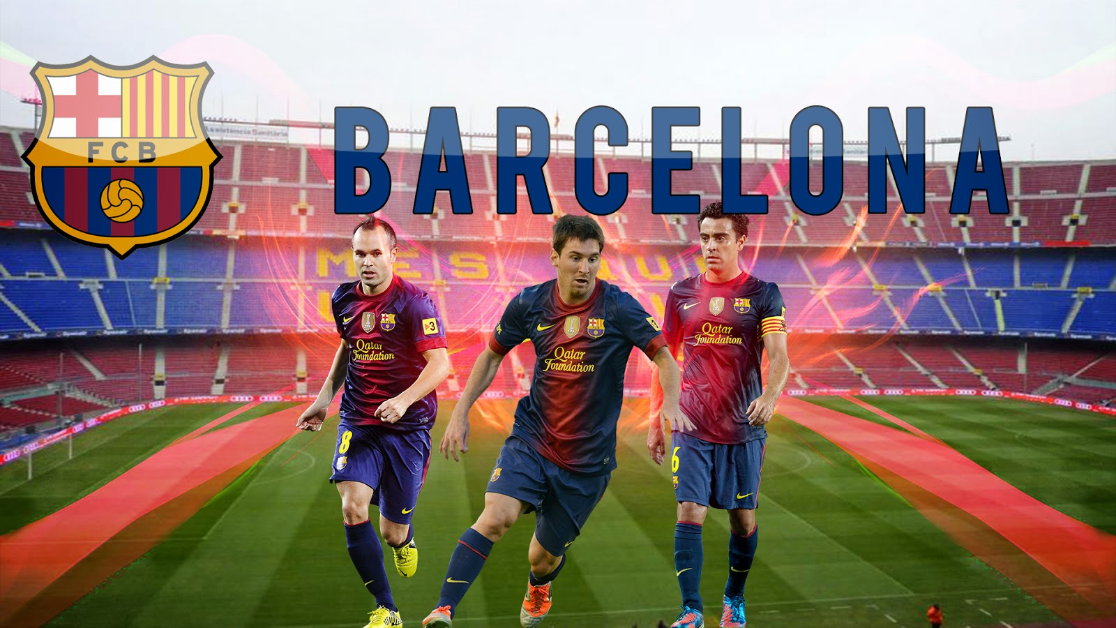 Iniesta Messi Xavi Barcelona Fc Free Wallpaper Hd Background Free Download Image Gallery Photo And Picture Imagehdfree